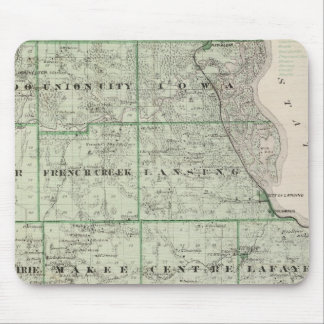 Map of Allamakee County Mouse Mat