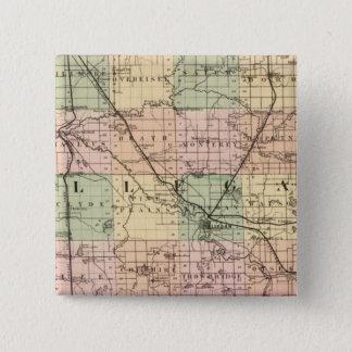 Map of Allegan County, Michigan 15 Cm Square Badge