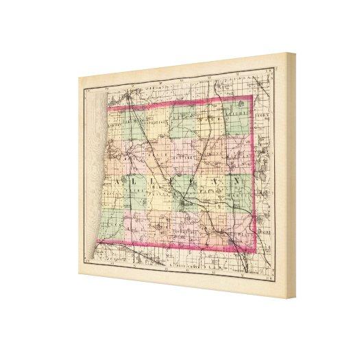 Map of Allegan County, Michigan Canvas Print