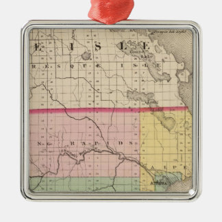 Map of Alpena County, Michigan Christmas Ornament