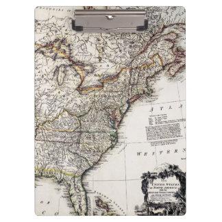 MAP OF AMERICA, 1809 CLIPBOARD