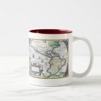 Map of Americas New World 1570 Two-Tone Coffee Mug