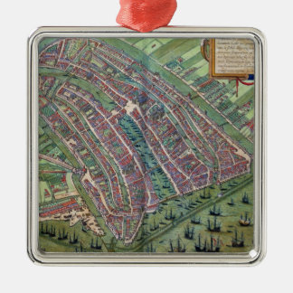 Map of Amsterdam, from 'Civitates Orbis Terrarum' Christmas Ornament