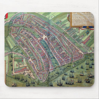 Map of Amsterdam, from 'Civitates Orbis Terrarum' Mouse Mat