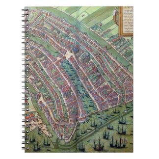 Map of Amsterdam, from 'Civitates Orbis Terrarum' Notebooks