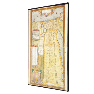 Map of Ancient Egypt, 1584 Canvas Print