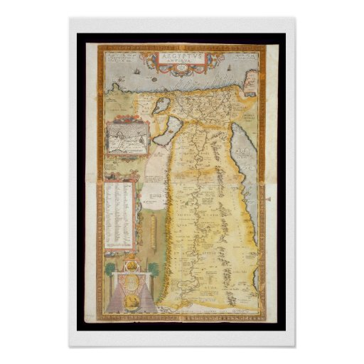 Map of Ancient Egypt, 1584 Poster
