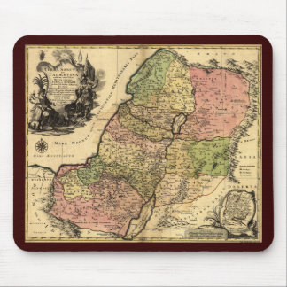 Map Of Ancient Israel With The 12 Tribes Mouse Pad