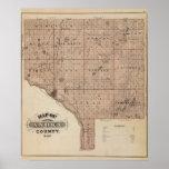 Map of Anoka County, Minnesota Poster