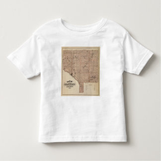 Map of Anoka County, Minnesota Toddler T-Shirt