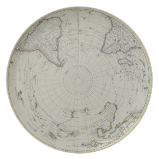 Map of Antarctica 2 Party Plate