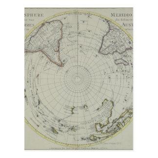 Map of Antarctica 2 Postcard