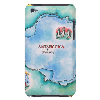 Map of Antarctica Barely There iPod Cover