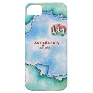 Map of Antarctica Case For The iPhone 5