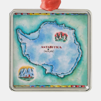 Map of Antarctica Christmas Ornament