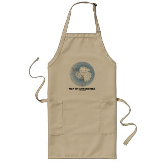 Map Of Antarctica (Geography) Long Apron