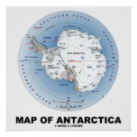 Map Of Antarctica (Geography) Print