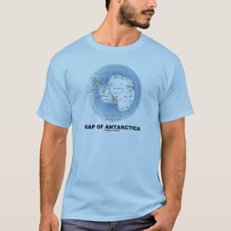 Map Of Antarctica (Geography) T-Shirt