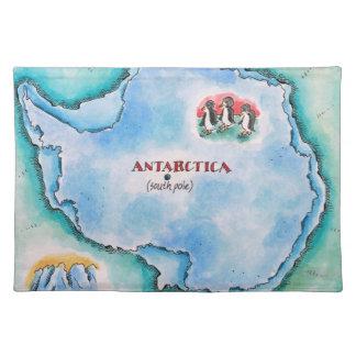 Map of Antarctica Placemat