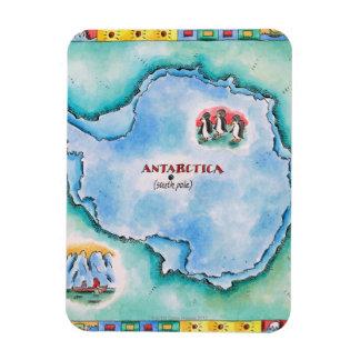 Map of Antarctica Rectangular Photo Magnet