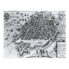Map of Antwerp, 1598 Postcard