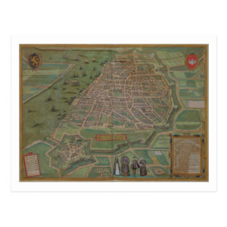 Map of Antwerp, from 'Civitates Orbis Terrarum' by Postcard