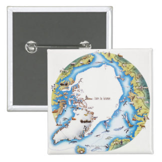 Map of Arctic Pinback Buttons