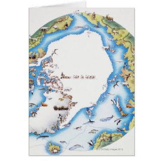 Map of Arctic Card