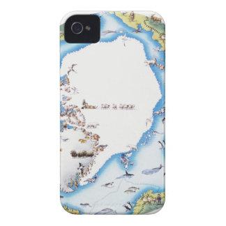 Map of Arctic iPhone 4 Cases