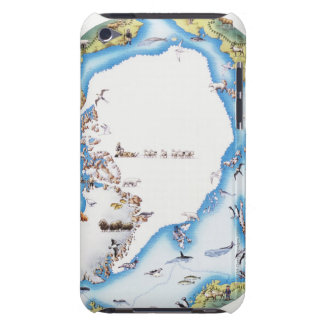 Map of Arctic iPod Touch Case