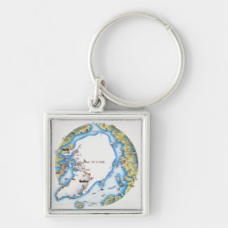 Map of Arctic Key Ring