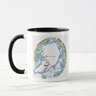 Map of Arctic Mug