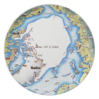 Map of Arctic Plate