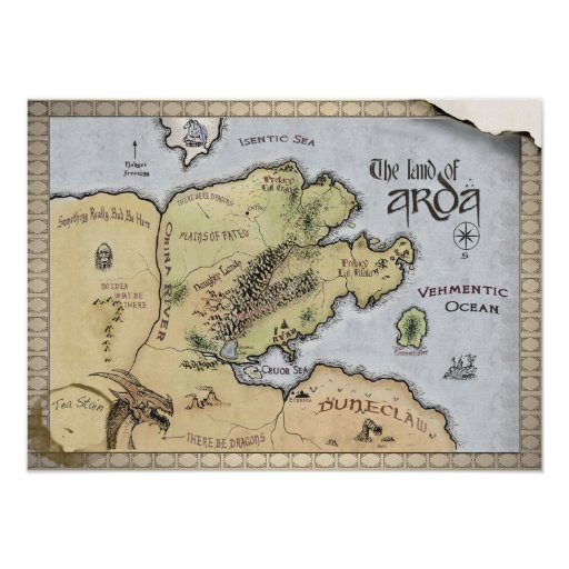 Map of Arda Poster