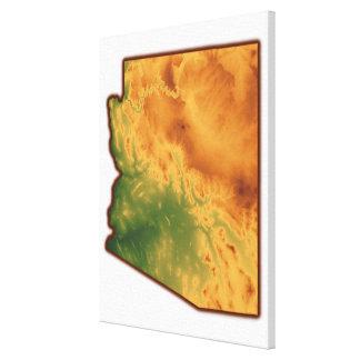 Map of Arizona Canvas Print