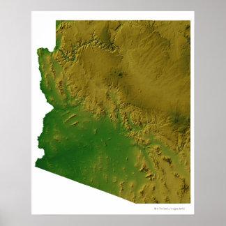 Map of Arizona Poster