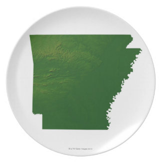 Map of Arkansas Plate
