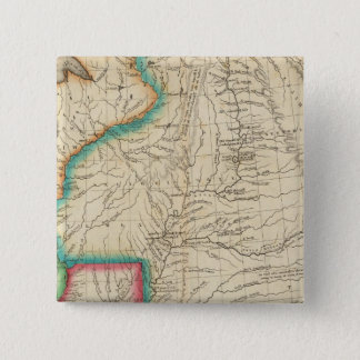 Map Of Arkansas Territory 15 Cm Square Badge