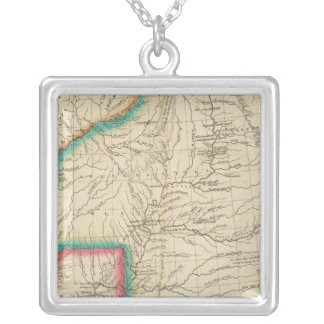 Map Of Arkansas Territory Silver Plated Necklace