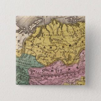 Map of Asia 15 Cm Square Badge