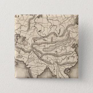 Map of Asia 2 15 Cm Square Badge