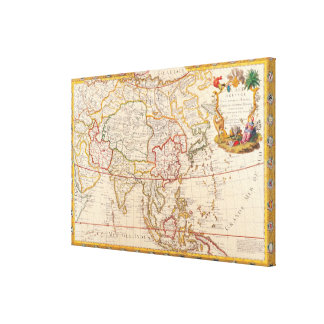 Map of Asia 2 Canvas Print