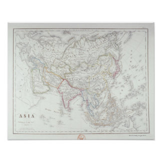 Map of Asia 2 Poster