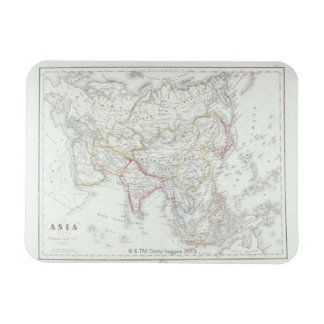 Map of Asia 2 Rectangular Photo Magnet