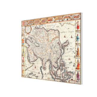 Map of Asia 3 Canvas Print
