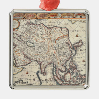 Map of Asia 3 Christmas Ornament