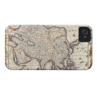 Map of Asia 3 iPhone 4 Case-Mate Cases