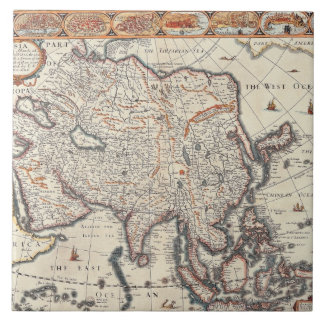 Map of Asia 3 Tile