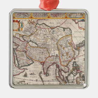 Map of Asia 4 Christmas Ornament