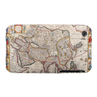 Map of Asia 4 iPhone 3 Case